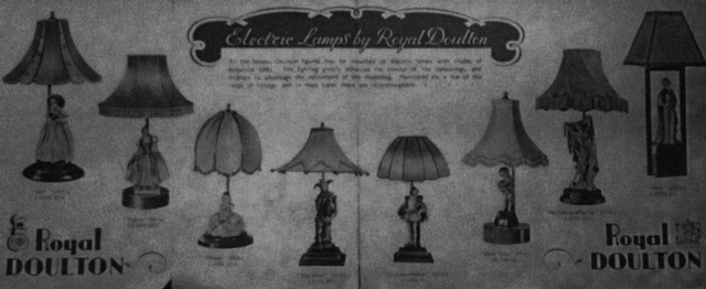New Lamps For Old Royal Doulton S Figure Lamps